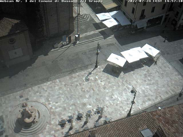 Webcam Bassano piazza garibaldi del Grappa